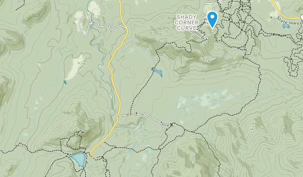 High Peaks Wilderness Area Map
