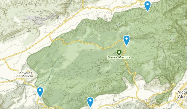 Serra Mariola Natural Park Map