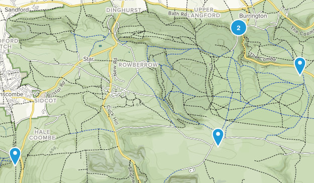Mendip Hills Area of Outstanding Natural Beauty Map