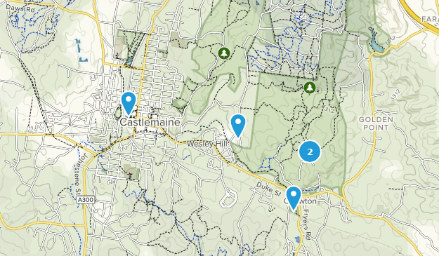 Castlemaine Diggings National Heritage Park Map