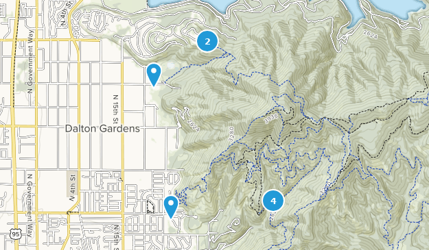 Canfield Mountain Trail System Map