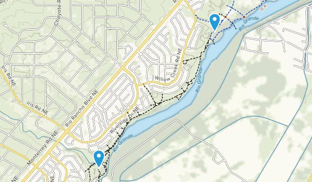 Rio Rancho Bosque Nature Preserve Map