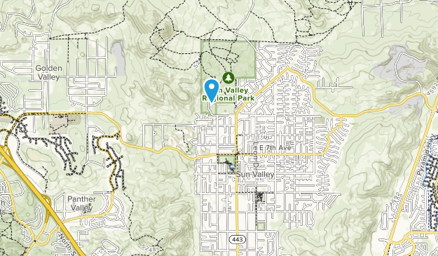 Sun Valley Regional Park Map
