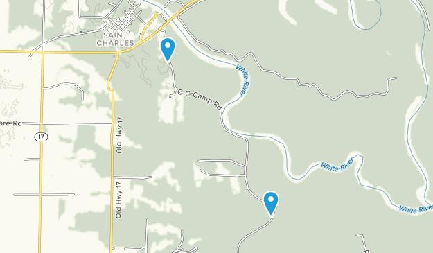 White River National Wildlife Refuge Map