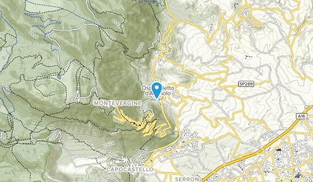Partenio Regional Park Map