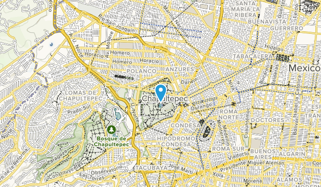 Seccion Del Bosque De Chapultepeo Map