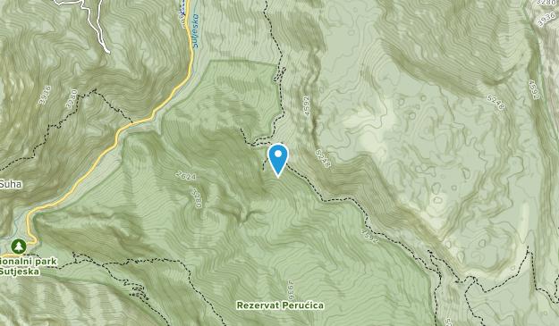 Nacionalni Park Sutjeska Map