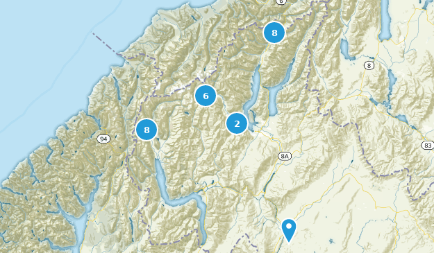 Mount Aspiring National Park Map