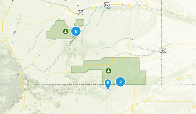 Comanche National Grassland Map