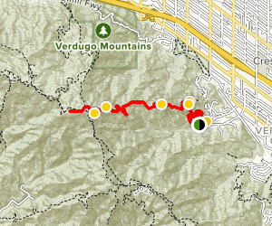 Whiting Woods Motorway Trail Map