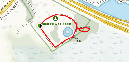 Bluebird Gap Farm Trail Map
