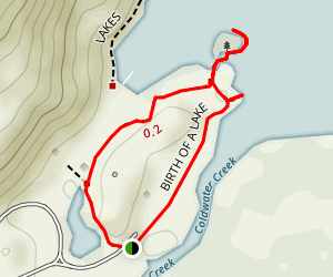 Birth of a Lake Loop Trail Map