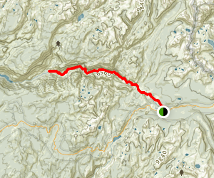 Waterwheel Falls Trail Map