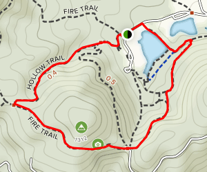 Hollow Trail and Fire Trail Loop Map