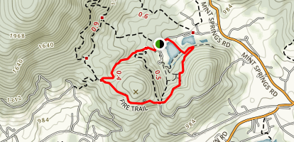 Mint Springs Valley Park Trails Map