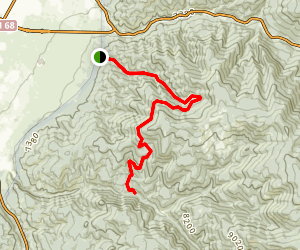 Ojitos Canyon Trail Map