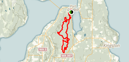 Port Gamble and Poulsbo Map
