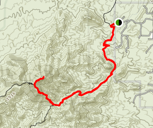 Wasson Peak via Sweetwater Trail Map