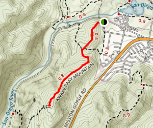 Kwaay Paay Peak Trail Map