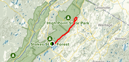 Sunrise Mountain and High Point via Appalachian Trail Map