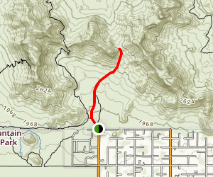 Bulldog Saddle Trail Map