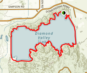 Diamond Valley Lakeside Loop Map