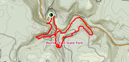 Loyalsock Loop Trail around World's End Map