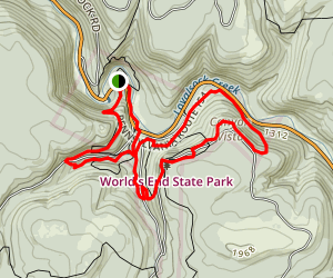Worlds End Trail Map