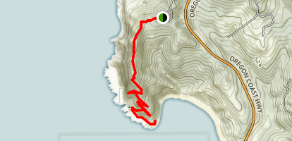 Cape Sebastian Trail Map