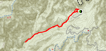 Upper Hot Spring Canyon to Falls Trail Map