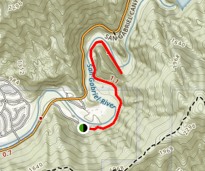 Azusa River Wilderness Trail Map