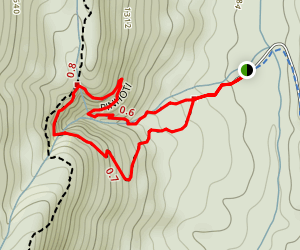 Keown Falls Trail Map