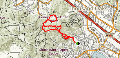 Triunfo Park Conejo Crest Loop Trail Map