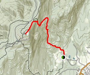 Mount Greylock Summit via Bellows Pipe Trail and Thunderbolt Trail Map