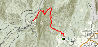 Mt. Greylock summit via Thunderbolt Trail Map