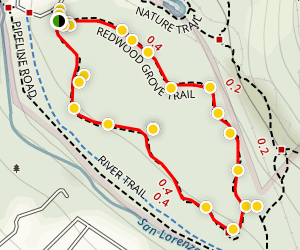 Redwood Loop Trail Map