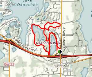Grass and Forest Lake Loop Trail Map