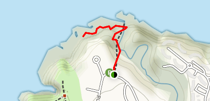 Queen's Bath Trail Map