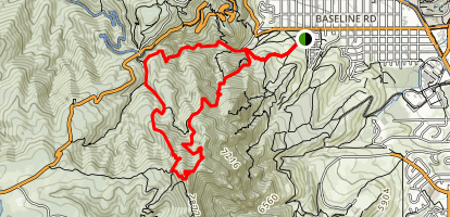 Green Mountain Loop Map