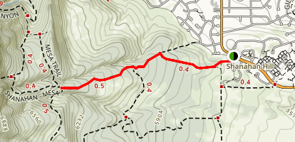 North Fork Shanahan Trail Map