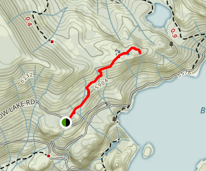 Bowman Lake Overlook Map