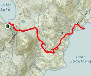 Spaulding Lake Trail Map