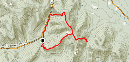 Plateau Mountain from Stony Clove Trail Map