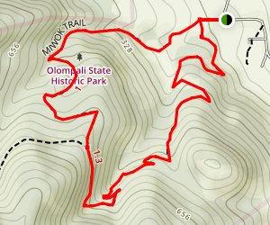 Olompali Trail Map