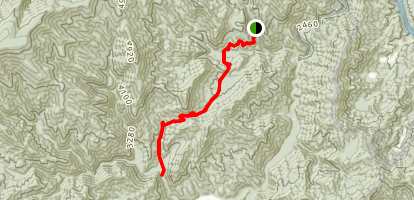 Little Cataloochee Trail  Map