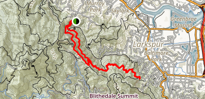 Baltimore Canyon Trail Map
