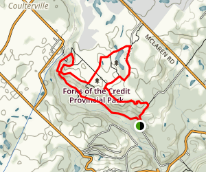 Forks of the Credit and Cataract Falls Trail Map