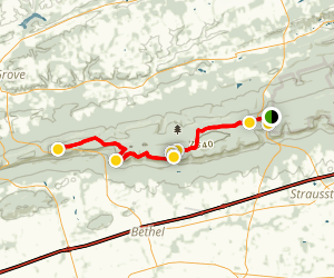 Appalachian Trail: PA 183 South to Kimmel Lookout Map