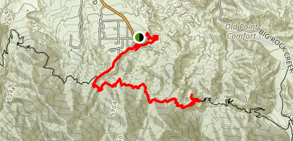 Devils Chair Trail Map