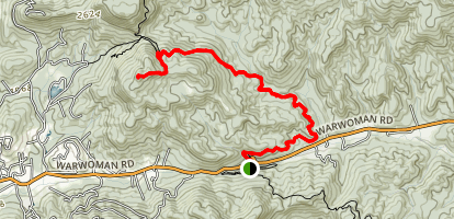 Bartram Trail to Pinnacle Knob Map